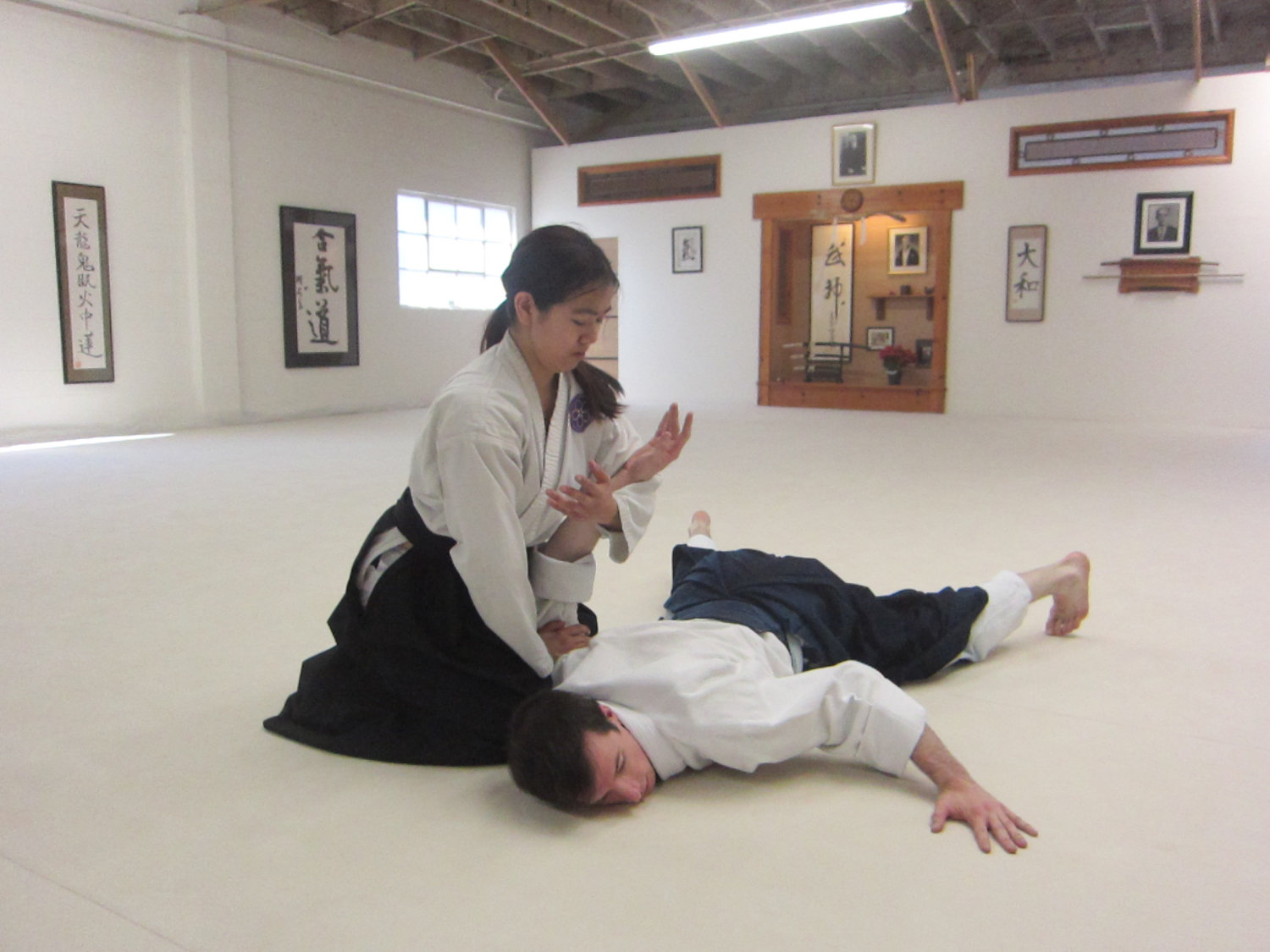 Practicing aikido at Aikido Daiwa